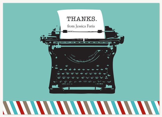 Vintage Type Thank You Cards