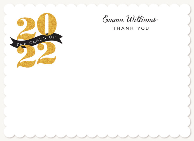 Glam Grad Thank You Cards