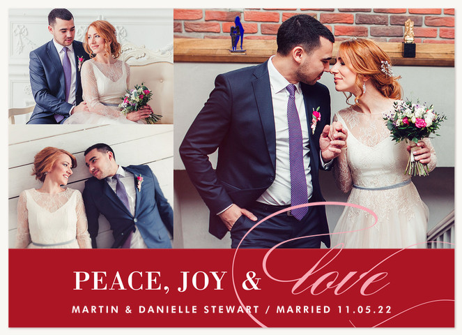 Stately Love Personalized Holiday Cards