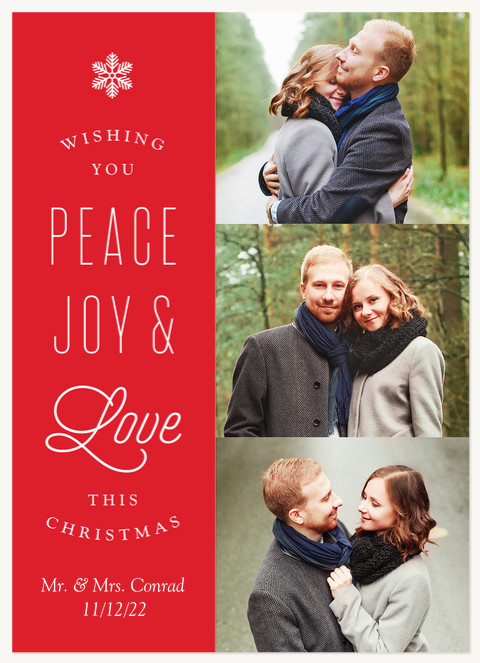 Magnificent Snowflake Personalized Holiday Cards