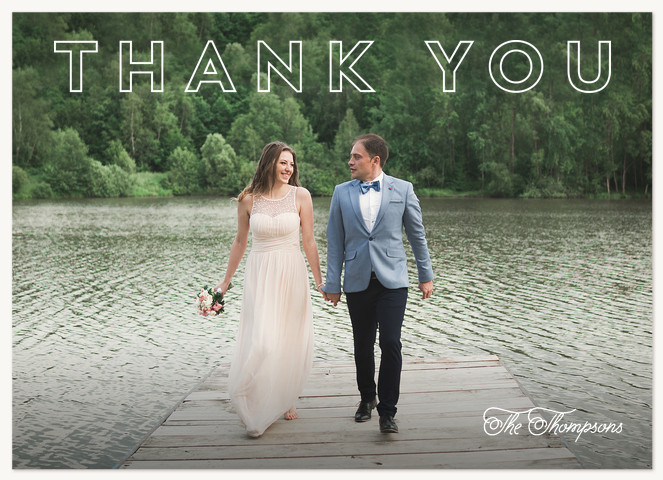Mod Thanks Thank You Cards