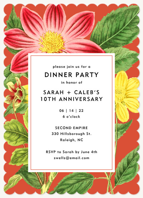 Tropic Evening  Dinner & Cocktail Party Invitations