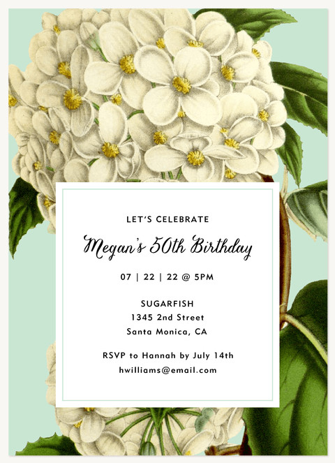 Vintage Fete Adult Birthday Party Invitations
