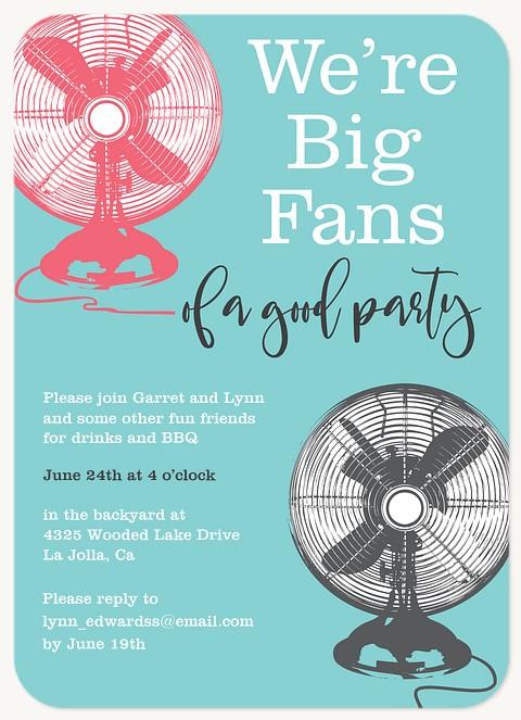 Big Fans Summer Party Invitations