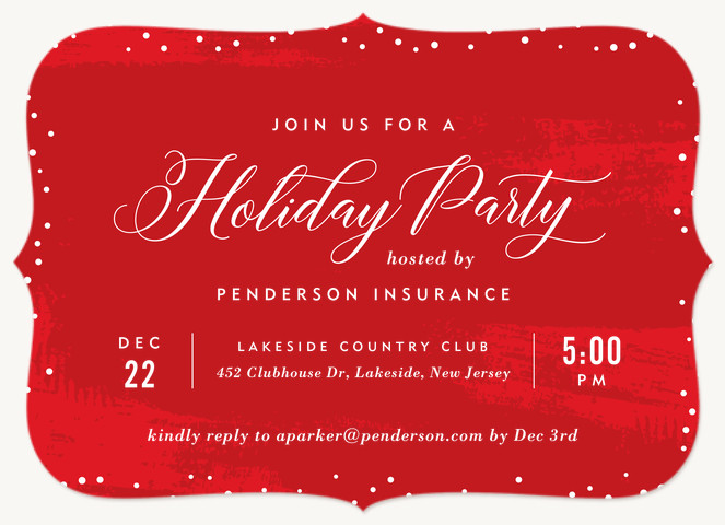 Bedazzled Holiday Party Invitations