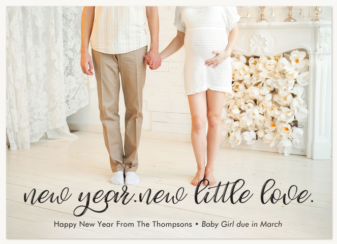 New Little Love Personalized Holiday Cards