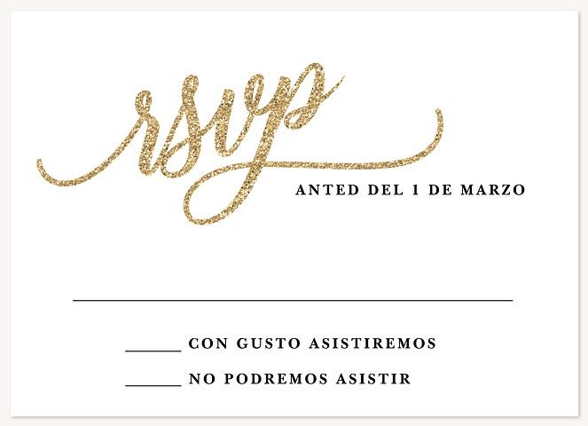 So Posh Quinceañera RSVP Cards