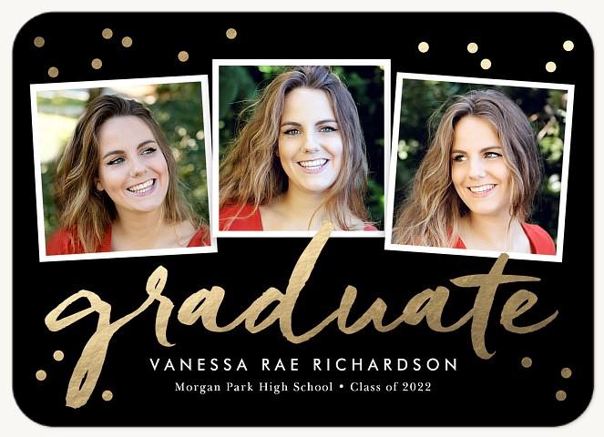 Confetti Trio Graduation Invitations