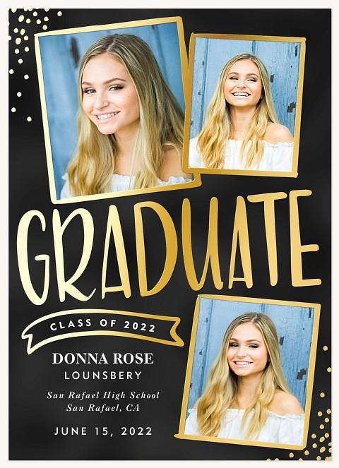 Confetti Collage Graduation Announcements