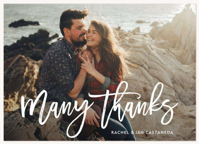 Thankful Script Thank You Cards