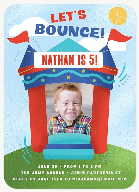 Bounce House Kids Birthday Invitations