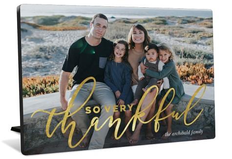 Golden Gratitude Tabletop Photo Panel