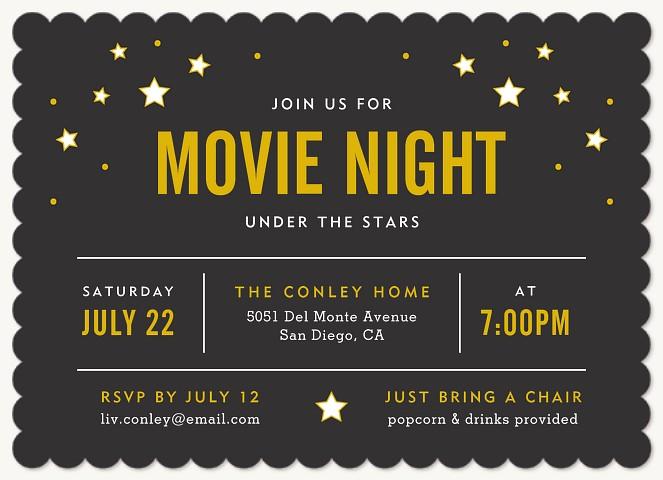 Under The Stars Invitations