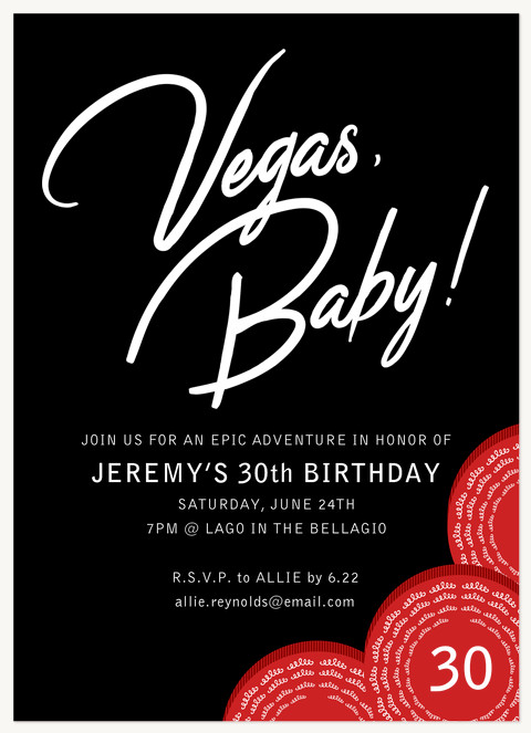Vegas Baby! Invitations
