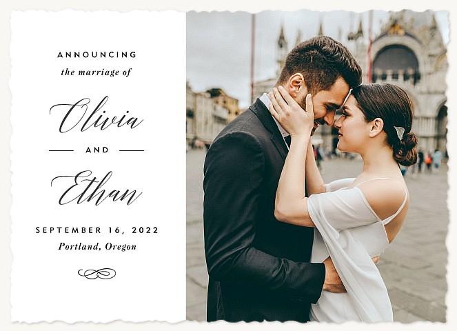 Wedded Bliss Wedding Announcements