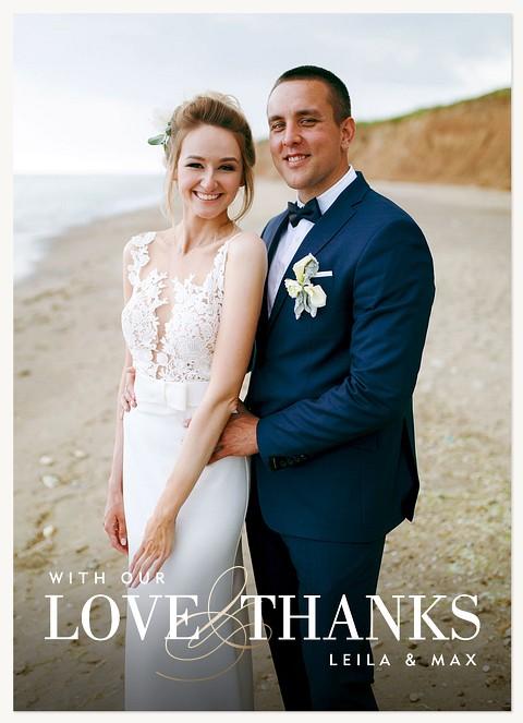 Elegant Gratitude Wedding Thank You Cards