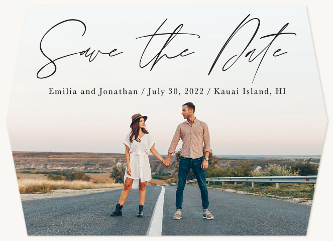 Elegantly Written Save the Date Cards