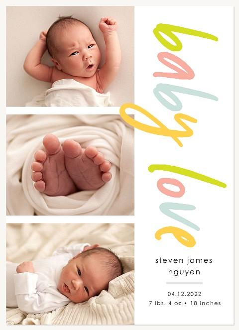 Rainbow Love Baby Announcements