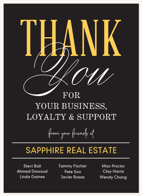 Typographic Mix Business Thank You Cards