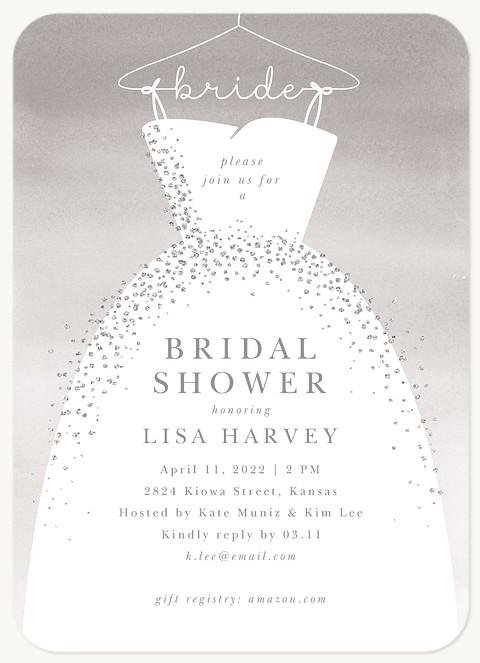 Glitzy Gown Bridal Shower Invitations