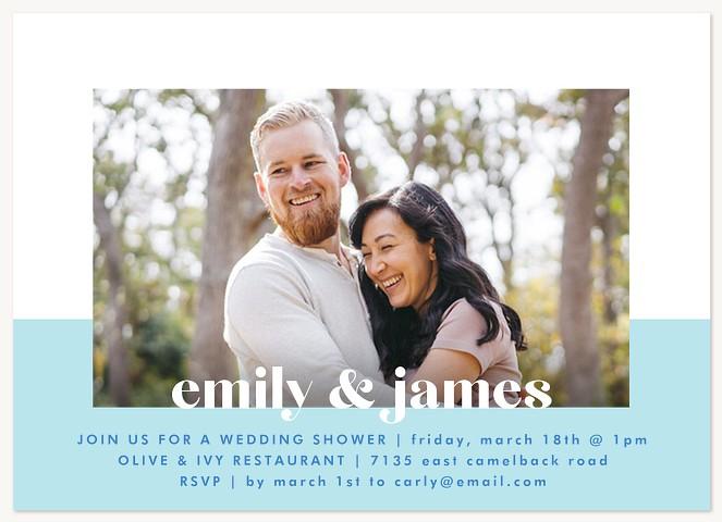 Color Block Bridal Shower Invitations