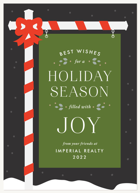 Realtor Sign Business Holiday Cards