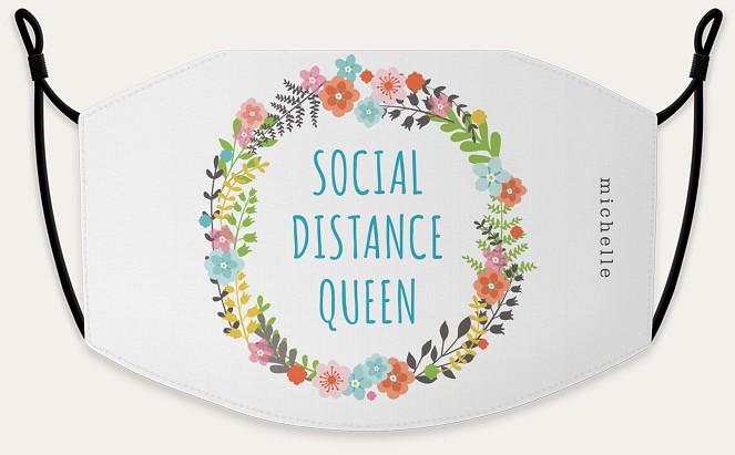 Social Distance Queen Custom Face Masks